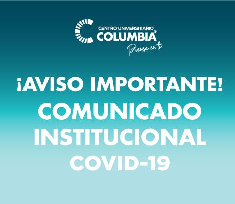 Comunicado Institucional COVID-19